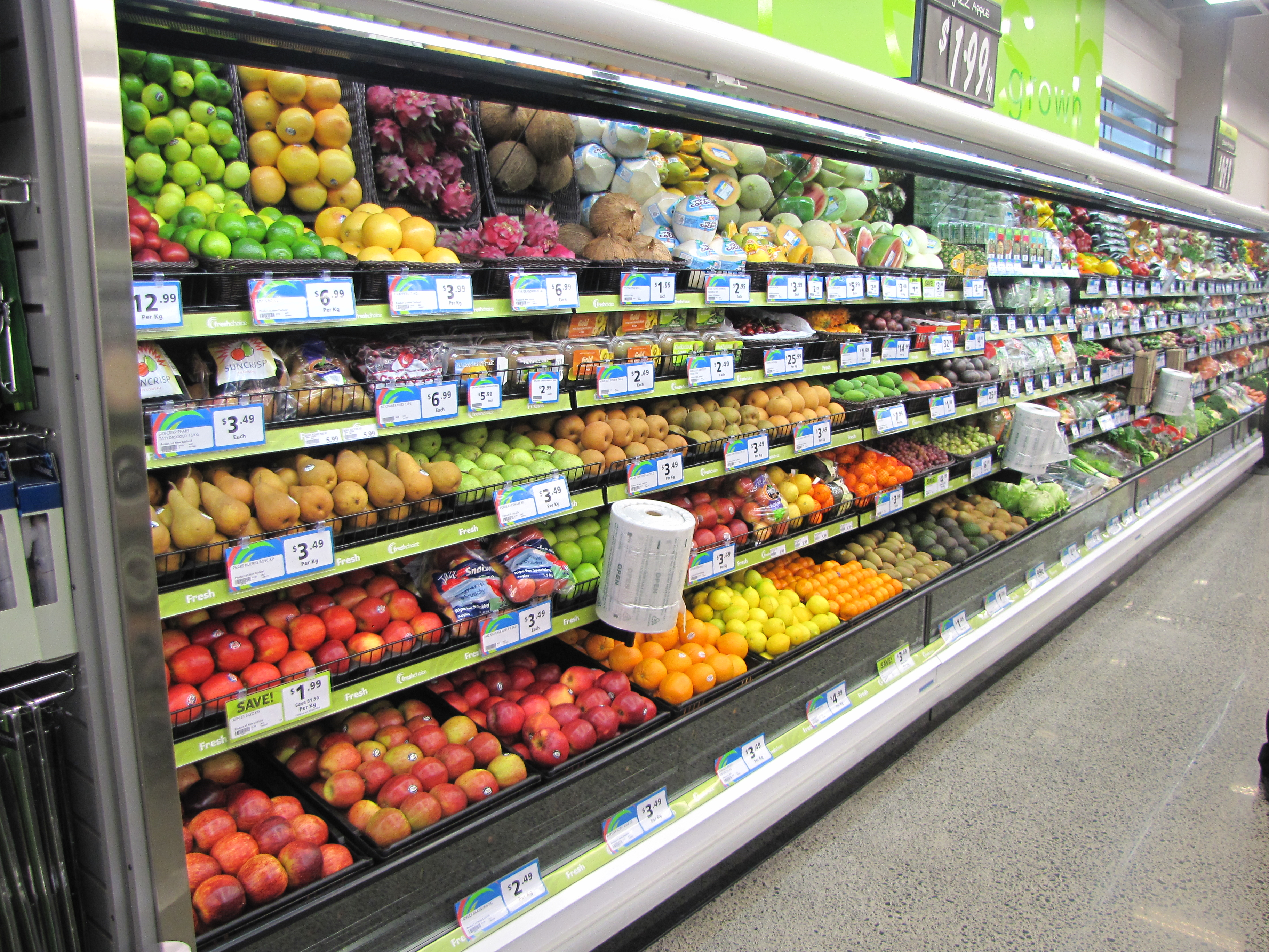 Refrigerated Produce Display Cabinets And Cases